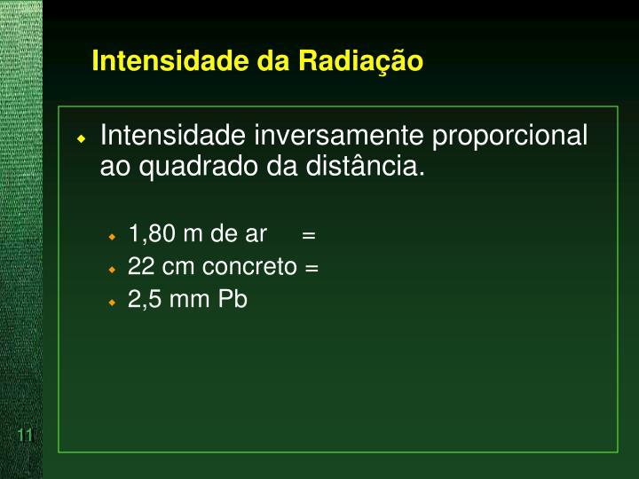 Intensidade da Radiação