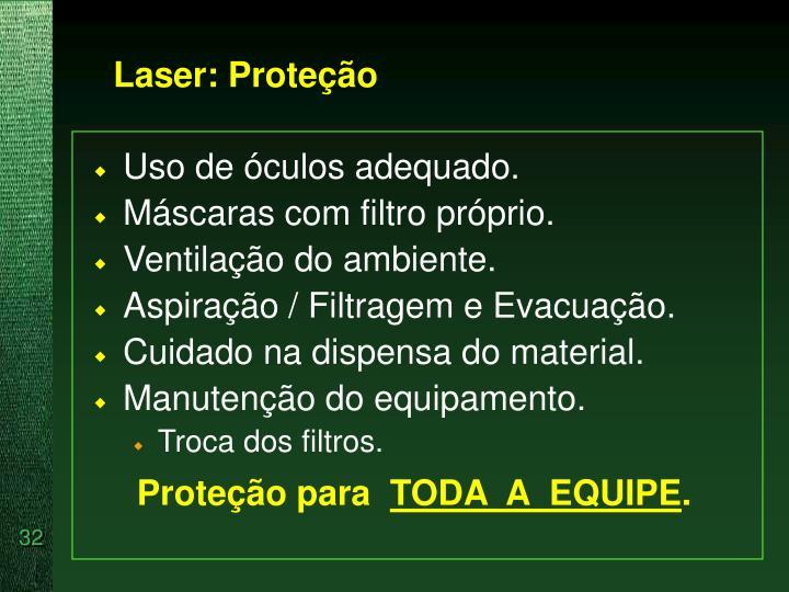 Laser: Proteção