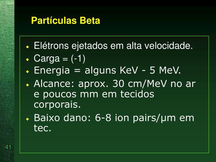 Partículas Beta