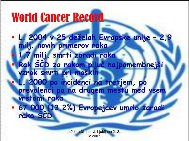 World cancer record