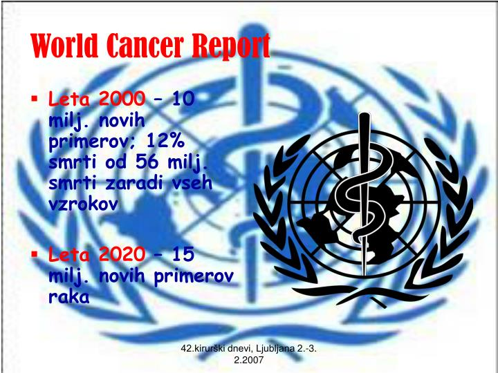 World cancer report