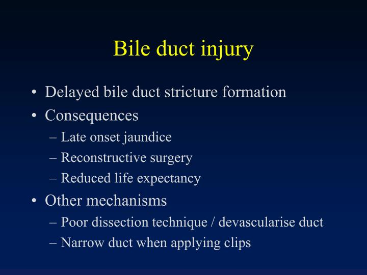 Bile duct injury