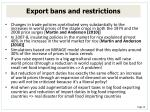 export bans and restrictions