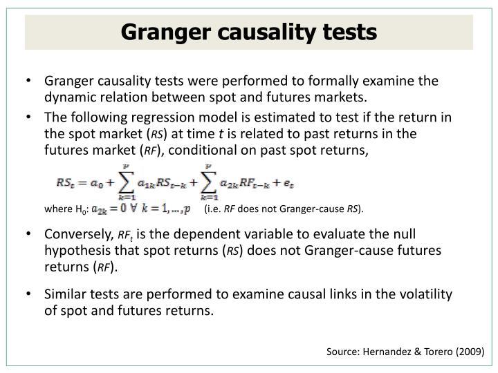 Granger causality tests