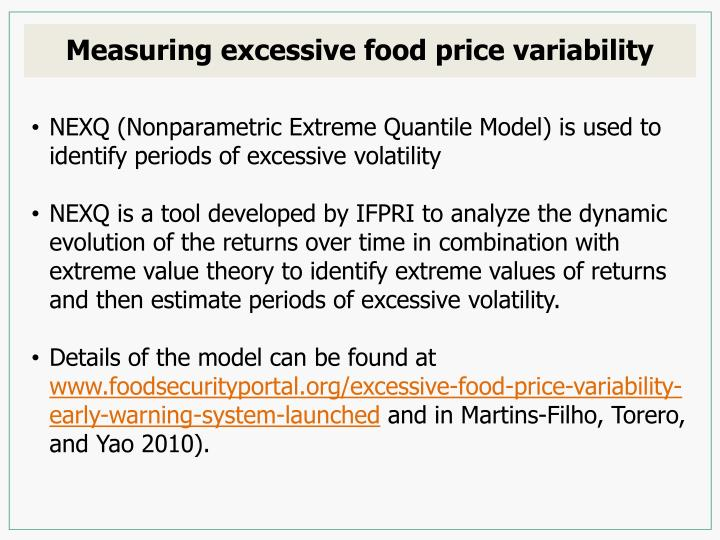 Measuring excessive food price variability