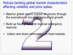 policies tackling global market characteristics affecting volatility and price spikes