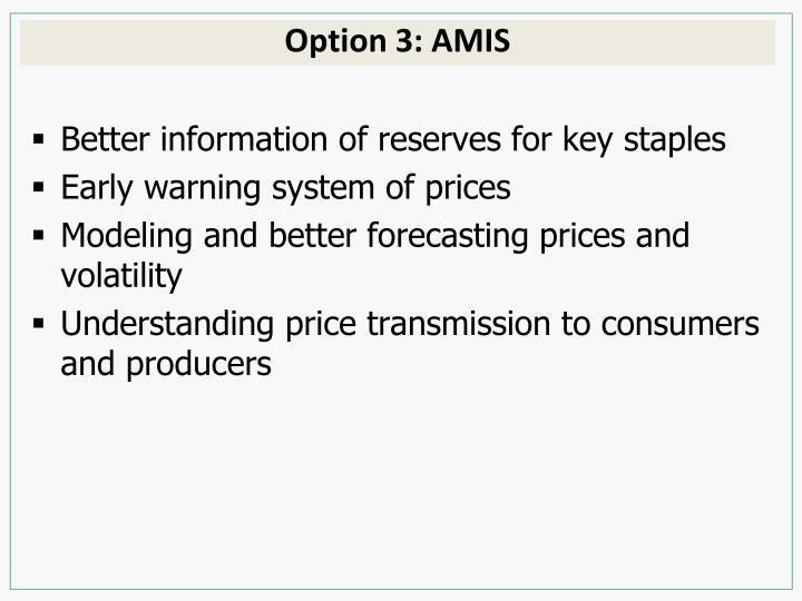 Option 3: AMIS