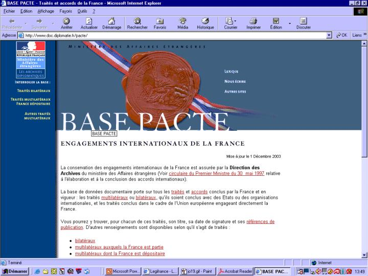 Salon de l'internet Juridique                           3 décembre 2003