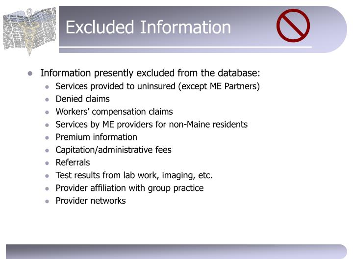 Excluded Information
