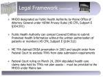 legal framework continued