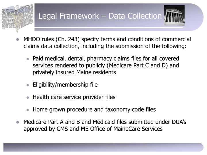 Legal Framework – Data Collection