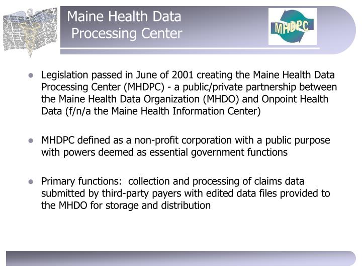 Maine Health Data