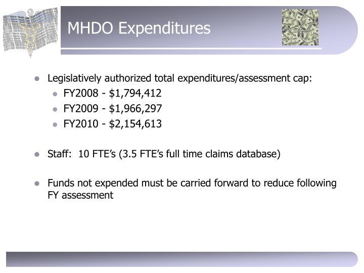 MHDO Expenditures