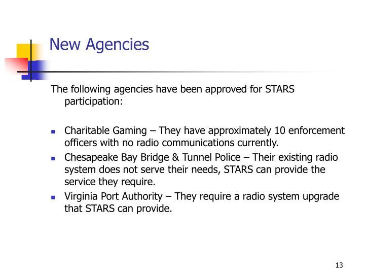 New Agencies