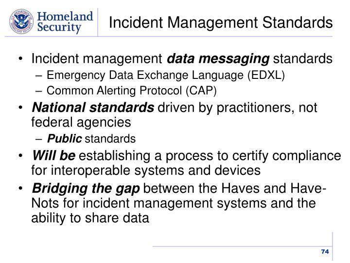 Incident Management Standards
