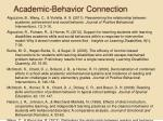 academic behavior connection