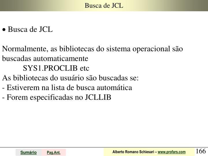 Busca de JCL