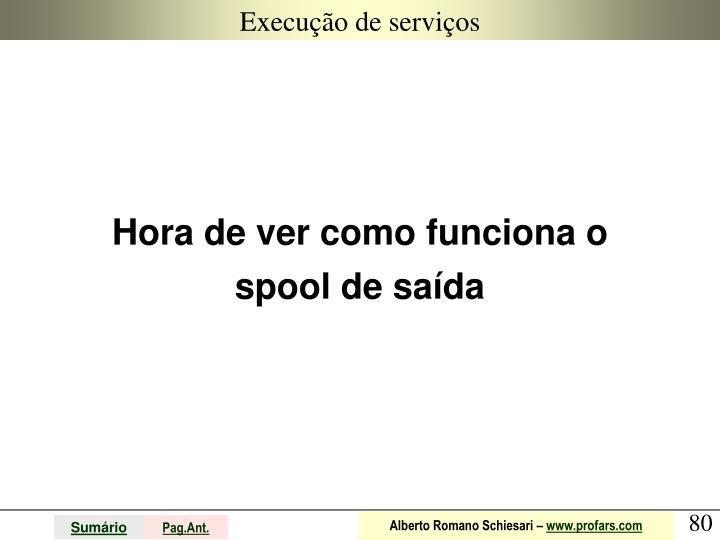 Execução de serviços