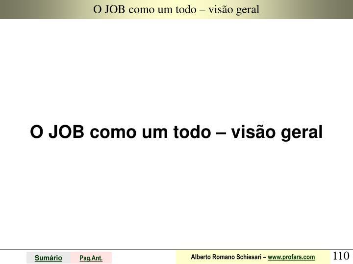 O JOB como um todo – visão geral