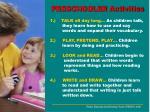 preschooler activities