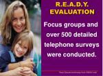 r e a d y evaluation