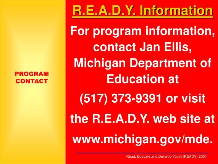 R.E.A.D.Y. Information