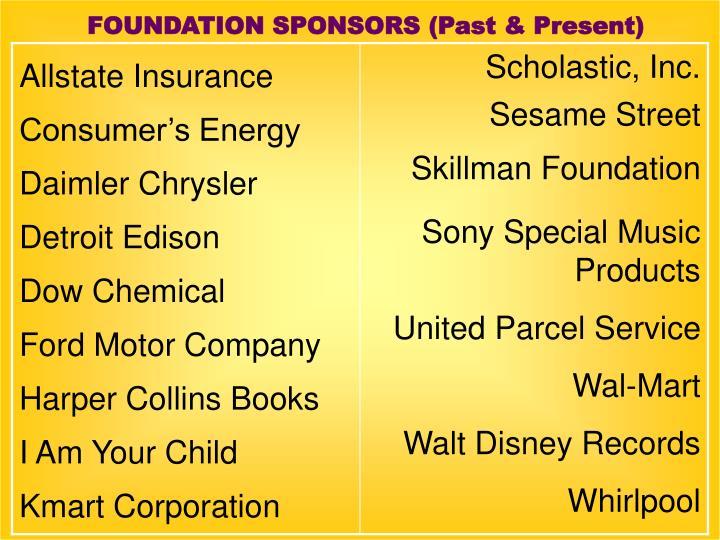 FOUNDATION SPONSORS (Past & Present)