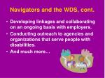 navigators and the wds cont
