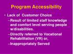 program accessibility