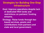 strategies for building one stop infrastructure1