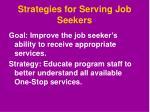 strategies for serving job seekers