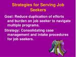strategies for serving job seekers1