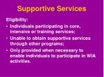 supportive services