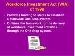 workforce investment act wia of 1998