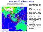 asia and se asia tectonics