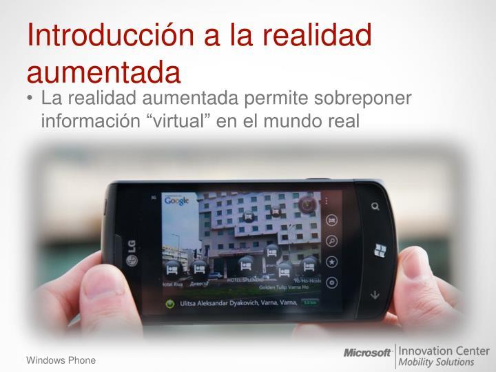Introducción a la realidad aumentada