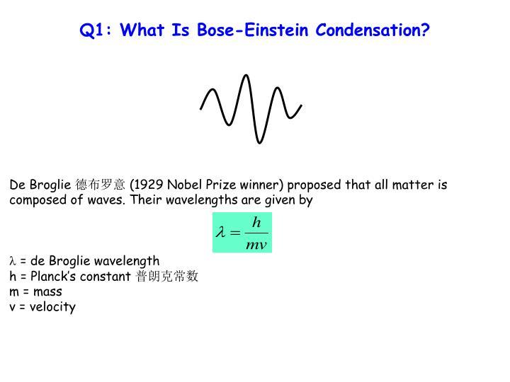 Q1: What Is Bose-Einstein Condensation?