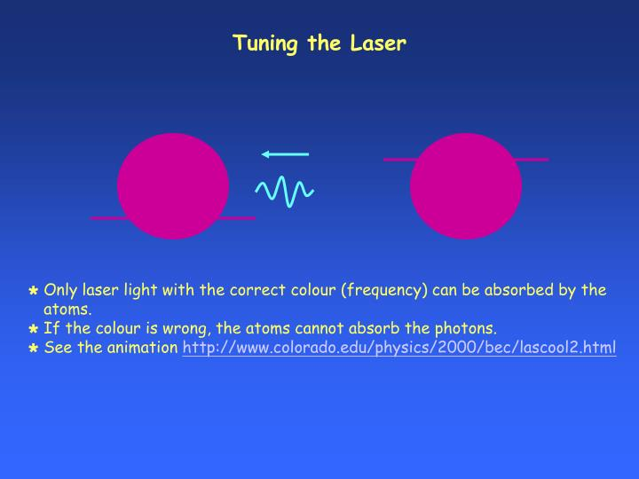 Tuning the Laser