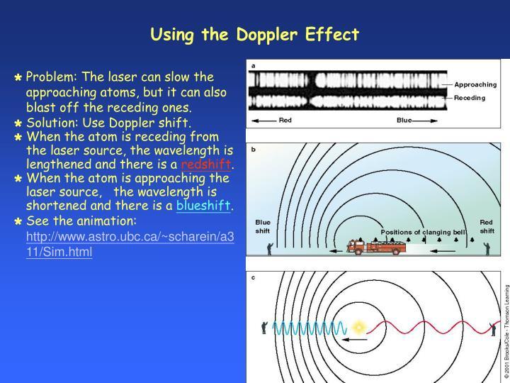 Using the Doppler Effect