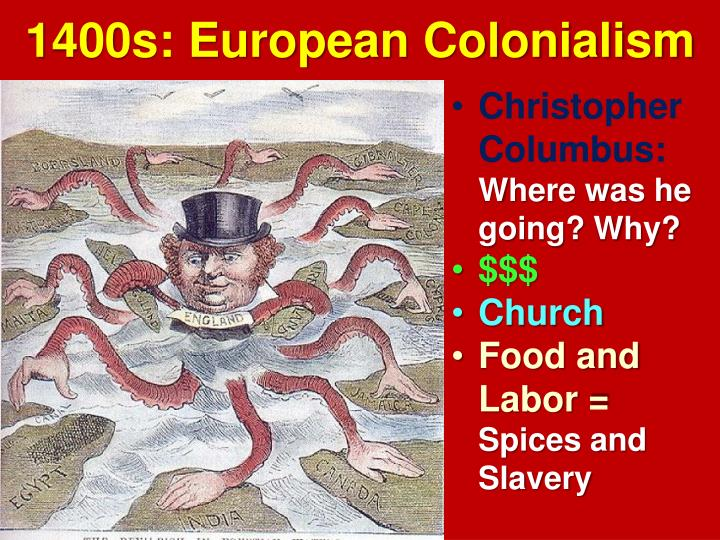 1400s: European Colonialism