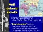 anti colonial revolts