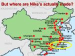 but where are nike s actually made