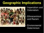 geographic implications