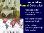 imperialism formal colonialism