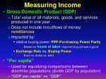 measuring income