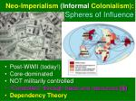 neo imperialism informal colonialism spheres of influence