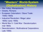 western world system globalization history