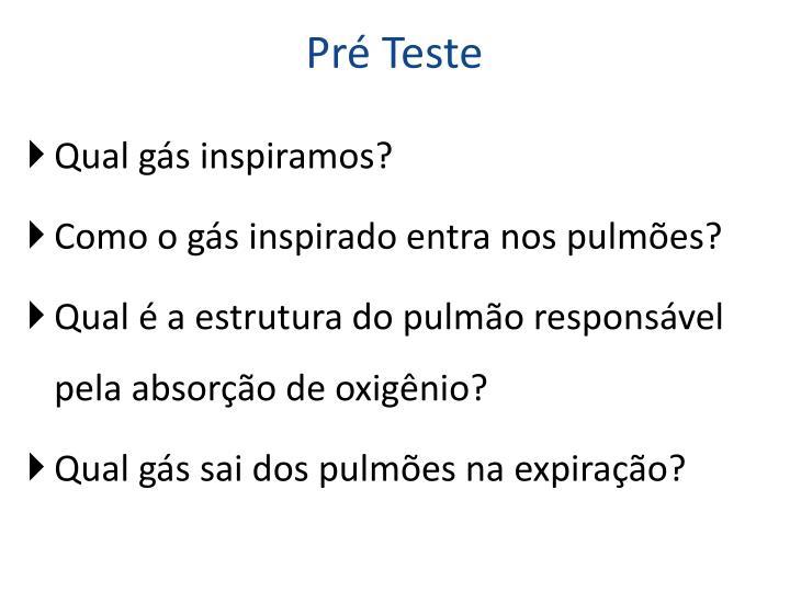 Pré Teste