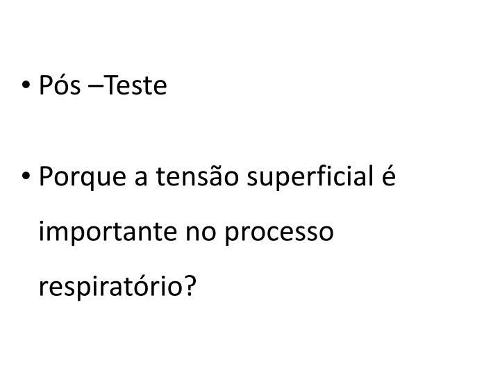 Pós –Teste