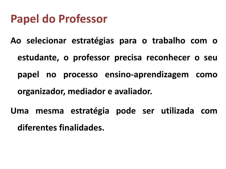 Papel do Professor